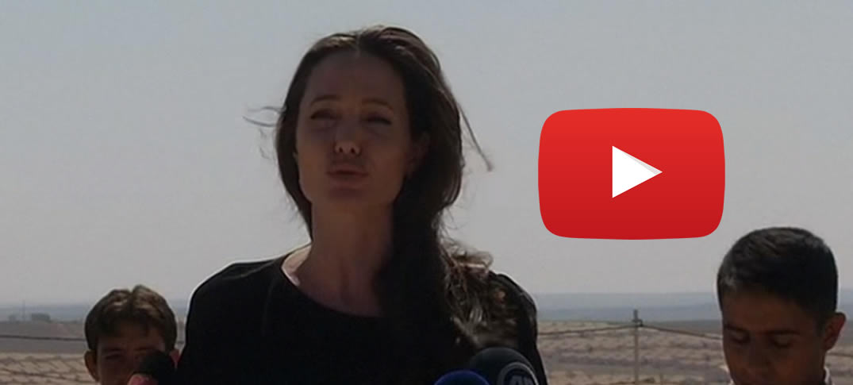 Angelina Jolie Visito Campamento de Refugiados en Jordania