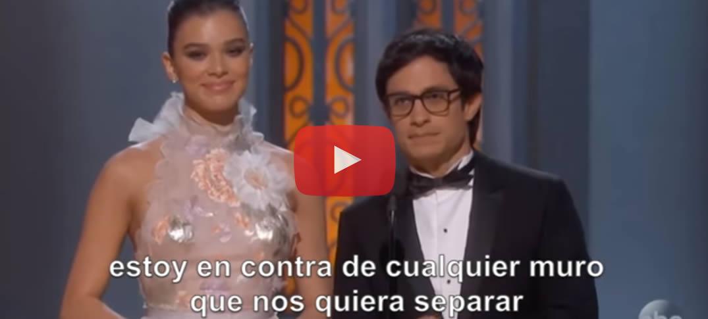 En los Premios Oscar: Actor Mexicano Gael García Bernal Denuncia Muro Fronterizo De Trump