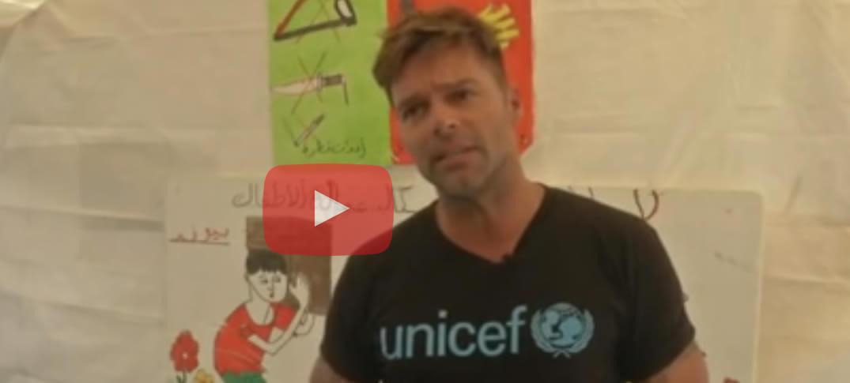 Ricky Martin Visitó Campo de Refugiados Sirius