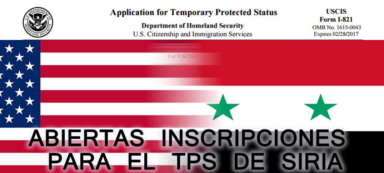 Re-Designación y Extensión del Estatus de Protección Temporal para Siria