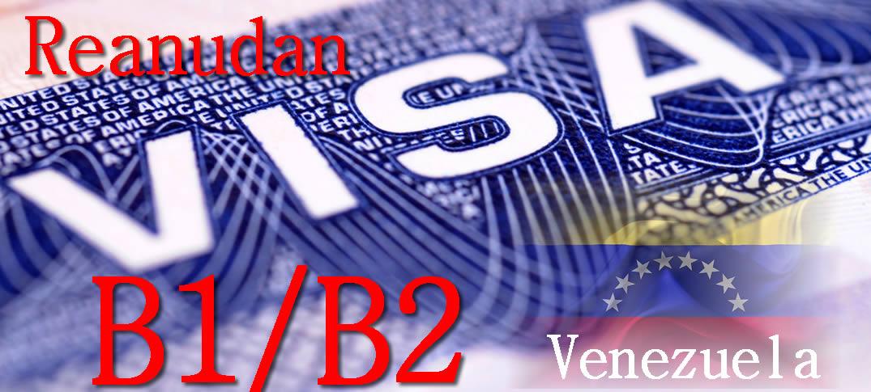 Estados Unidos Reanuda Proceso De Solicitud De Visas Por Primera Vez Para Negocios Y Turismo en Venezuela