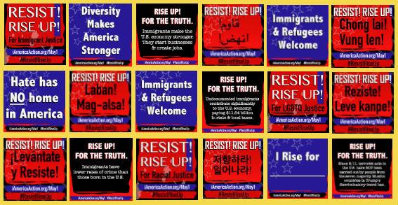 El Primero de Mayo Resista y Levántese con Nosotros