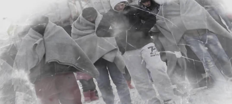 El Drama de los Refugiados en una Europa Congelada