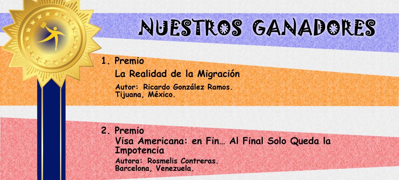 """Nuestros Ganadores Concurso """"Escribe para Inmigracionyvisas"""""""