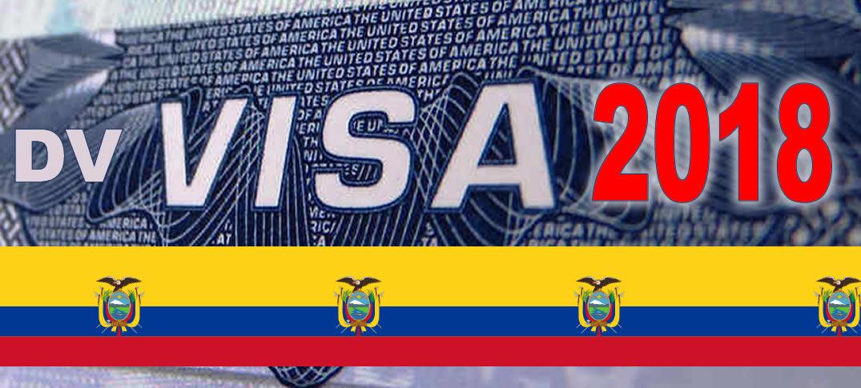 Ecuatorianos Podrán Participar de la Lotería de Visas a Estados Unidos 2018