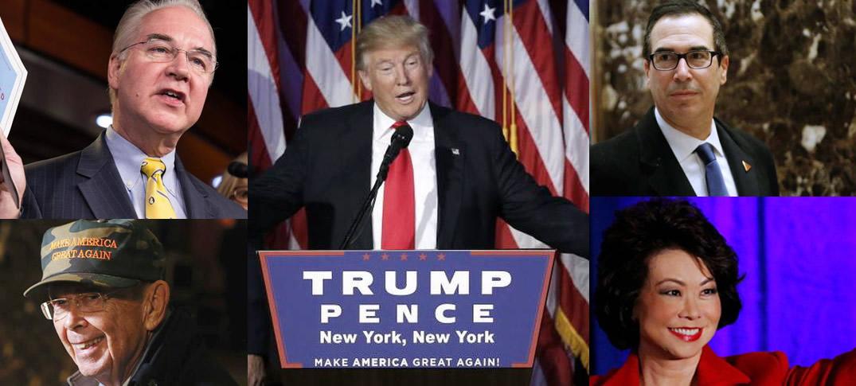El Nuevo Gabinete de Donald Trump, Algunos son Multimillonarios