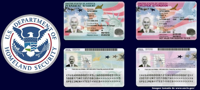 Nuevo Diseño en Tarjetas Verdes y Documentos de Autorización de Empleo