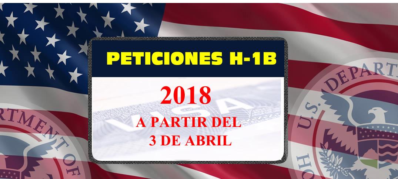 Estados Unidos Aceptará Peticiones H-1B para el Año Fiscal 2018