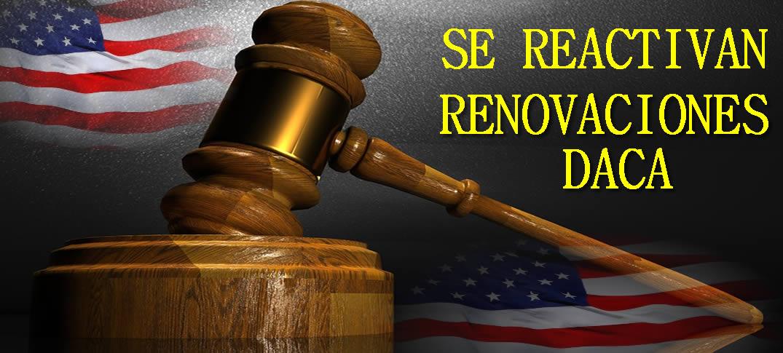 Se Reactiva El Programa DACA Para Renovaciones. Juez Bloquea Cancelación Del Programa DACA