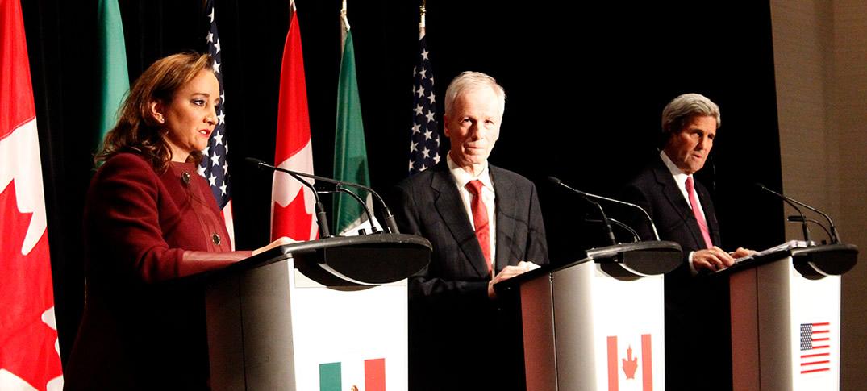 Reunión de Cancilleres de Canadá, México y Estados Unidos en Quebec