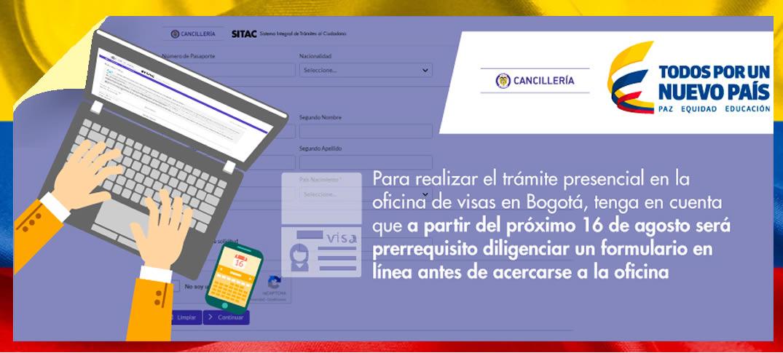 Nuevo Formulario en Línea para Tramite de Visa Colombiana